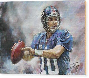 Eli Manning Nfl Ny Giants  Wood Print