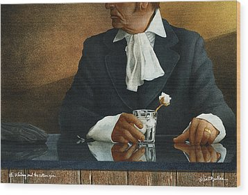 Eli Whitney And The Cotton Gin... Wood Print by Will Bullas
