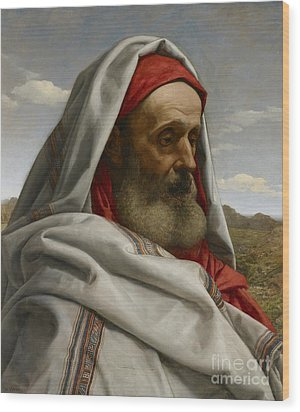 Eliezer Of Damascus Wood Print by William Dyce