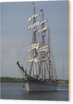 Elissa Tall Ship Wood Print