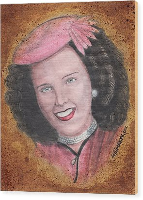 Elizabeth Short Before Wood Print by David Shumate