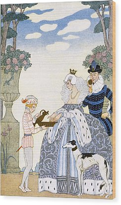 Elizabethan England Wood Print by Georges Barbier