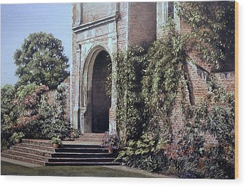 Wood Print featuring the painting Elizabethan Tower by Rosemary Colyer