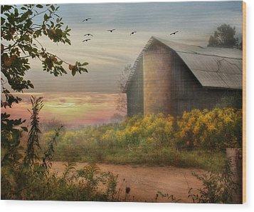 Elk County Wood Print by Lori Deiter