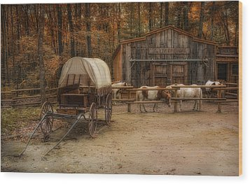 Elk Horn Livery Stable Wood Print by Robin-Lee Vieira