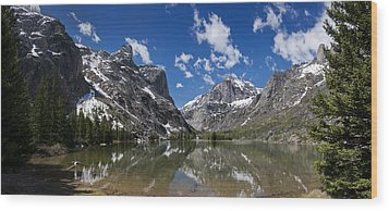 Elk Lake Panorama 1 Wood Print