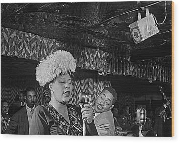 Ella Fitzgerald And Dizzy Gillespie William Gottleib Photo Unknown Location September 1947-2014. Wood Print by David Lee Guss