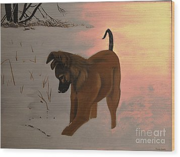 Wood Print featuring the painting Ellee by Stuart Engel