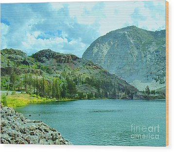 Wood Print featuring the photograph Ellery Lake by Marilyn Diaz