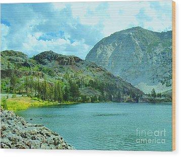 Ellery Lake Wood Print by Marilyn Diaz