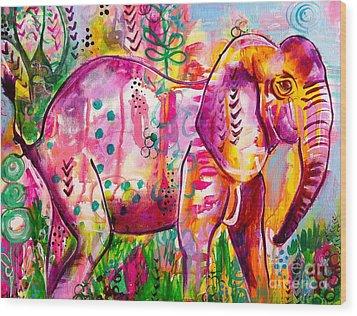 Ellie The Elephant Wood Print