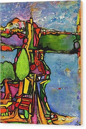 Elliott Bay Wood Print by Chaline Ouellet
