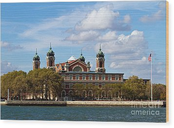Wood Print featuring the photograph Ellis Island by Eleanor Abramson