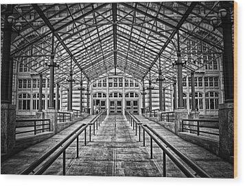 Ellis Island Entrance Wood Print