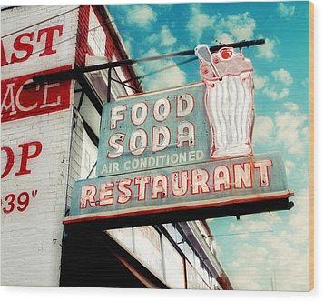 Elliston Place Soda Shop Wood Print by Amy Tyler