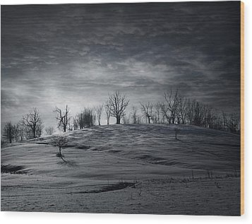 Elsewhere Wood Print by Akos Kozari