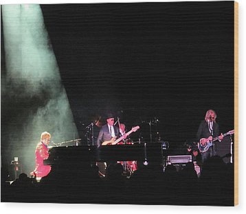 Elton And Band Wood Print by Aaron Martens