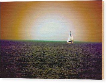 Elusive Sails Wood Print