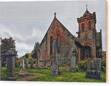 Elvanfoot Parish Church Wood Print by Marcia Colelli