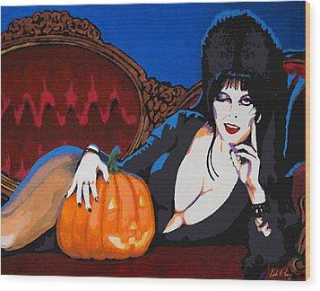 Elvira Dark Mistress Wood Print by Dale Loos Jr