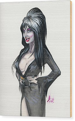 Elvira I Wood Print
