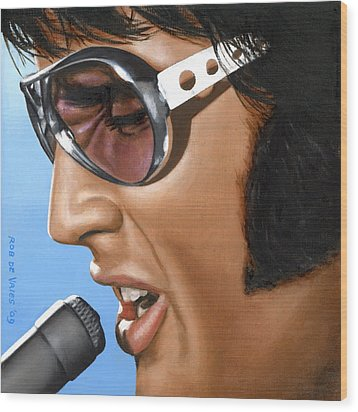 Elvis 24 1970 Wood Print by Rob De Vries
