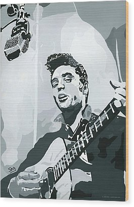Elvis At Sun Wood Print by Suzanne Gee