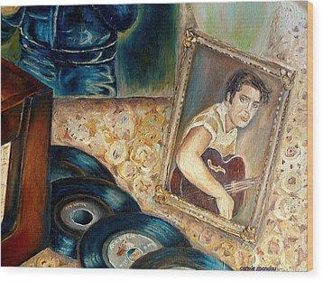 Elvis Country Boy Wood Print by Carole Spandau