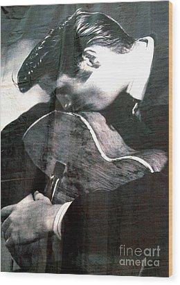 Elvis Gently Weeps Wood Print by David Bearden