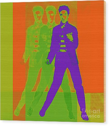 Elvis Jail House Rock 20130215m28 Wood Print by Wingsdomain Art and Photography