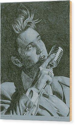 Elvis Live '56 Wood Print by Rob De Vries