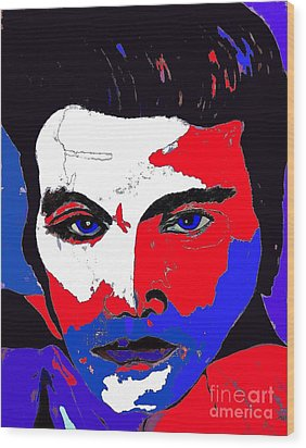Elvis Made In The U S A Wood Print by Saundra Myles