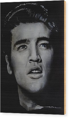 Wood Print featuring the painting Elvis- Mississippi Trucker by Eric Dee
