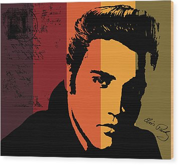 Elvis Presley Wood Print by Kenneth Feliciano