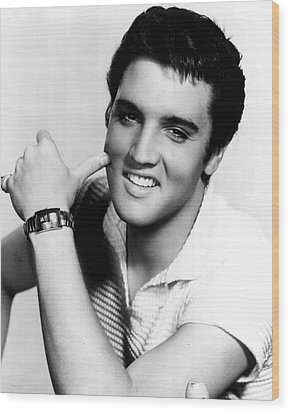 Elvis Presley Looking Casual Wood Print by Retro Images Archive