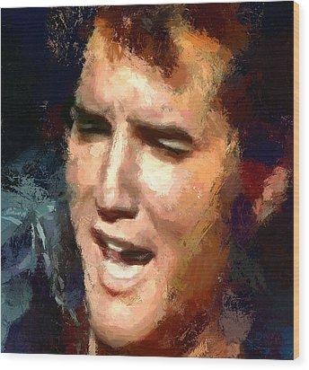 Elvis Presley Portrait 2 Wood Print