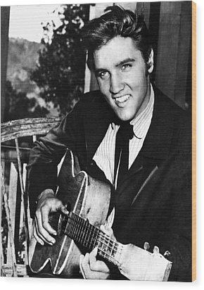 Elvis Presley Smiles  Wood Print by Retro Images Archive