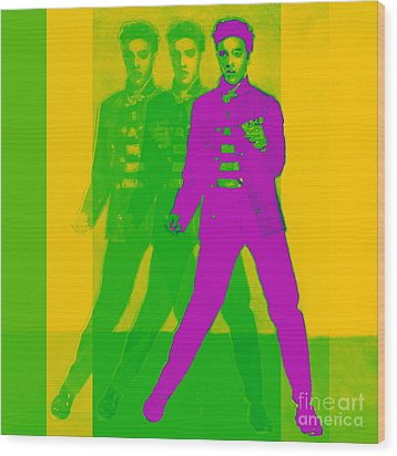 Elvis Three 20130215 Wood Print by Wingsdomain Art and Photography