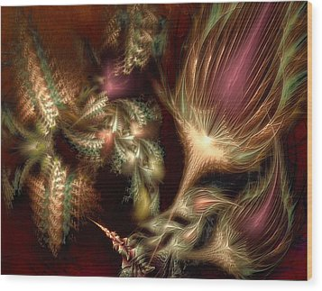 Wood Print featuring the digital art Elysian by Casey Kotas