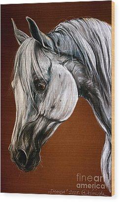 Emanda Wood Print by Angel  Tarantella