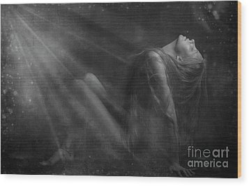 Embraced By The Light.. Wood Print by Nina Stavlund