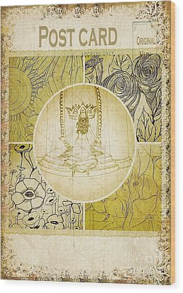 Embracing Glory-postcard Wood Print by Michelle Bentham
