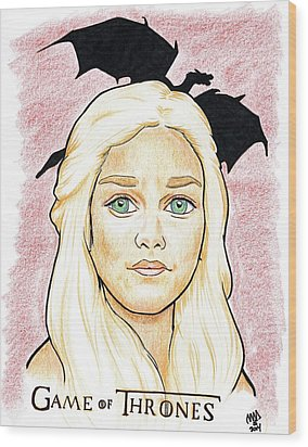 Emelia Clarke - Game Of Thrones Wood Print