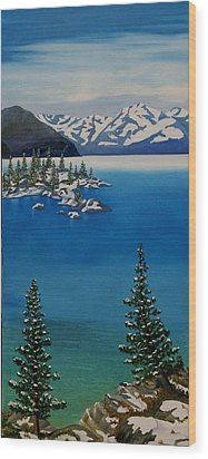 Emerald Bay Wood Print