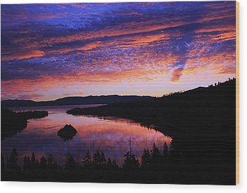 Wood Print featuring the photograph Emerald Bay Awakens by Sean Sarsfield