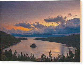 Emerald Bay Before Sunrise Wood Print by Marc Crumpler