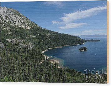 Emerald Bay Lake Tahoe California Usa Wood Print by John Kelly