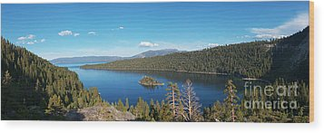 Wood Print featuring the photograph Emerald Bay Lake Tahoe Panorama by Paul Topp