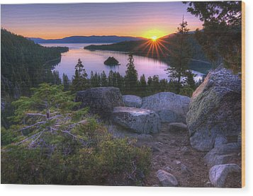 Emerald Bay Wood Print by Sean Foster