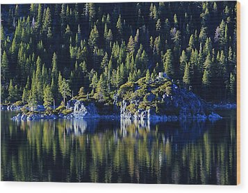 Wood Print featuring the photograph Emerald Bay Teahouse by Sean Sarsfield